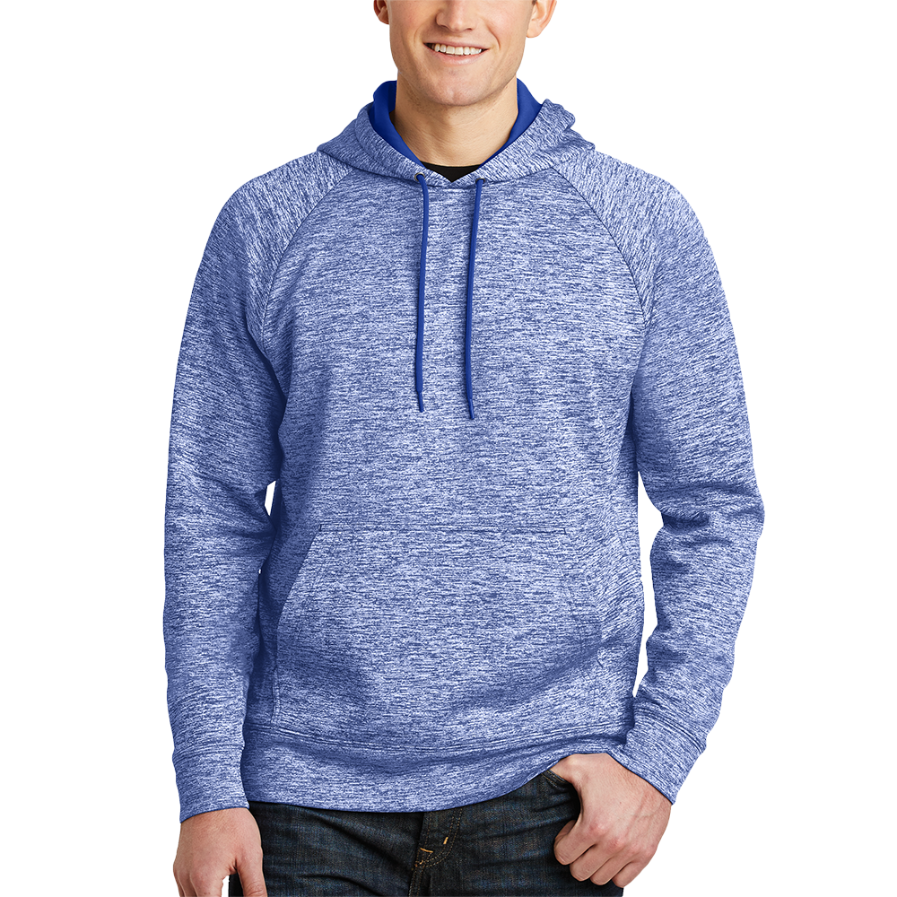 ST225 3XL Dark Royal Black Electric Sport-Tek 174 PosiCharge 174 Electric Heather Fleece Hooded Pullover